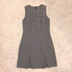 Jonathan Martin Pleated Gingham Dress Navy Size 5